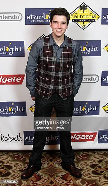 Actor Nathan Kress attends the Starlight Children's Foundation's annual 2010 'A Stellar Night' gala at the Hyatt Regency Century Plaza Hotel on March...