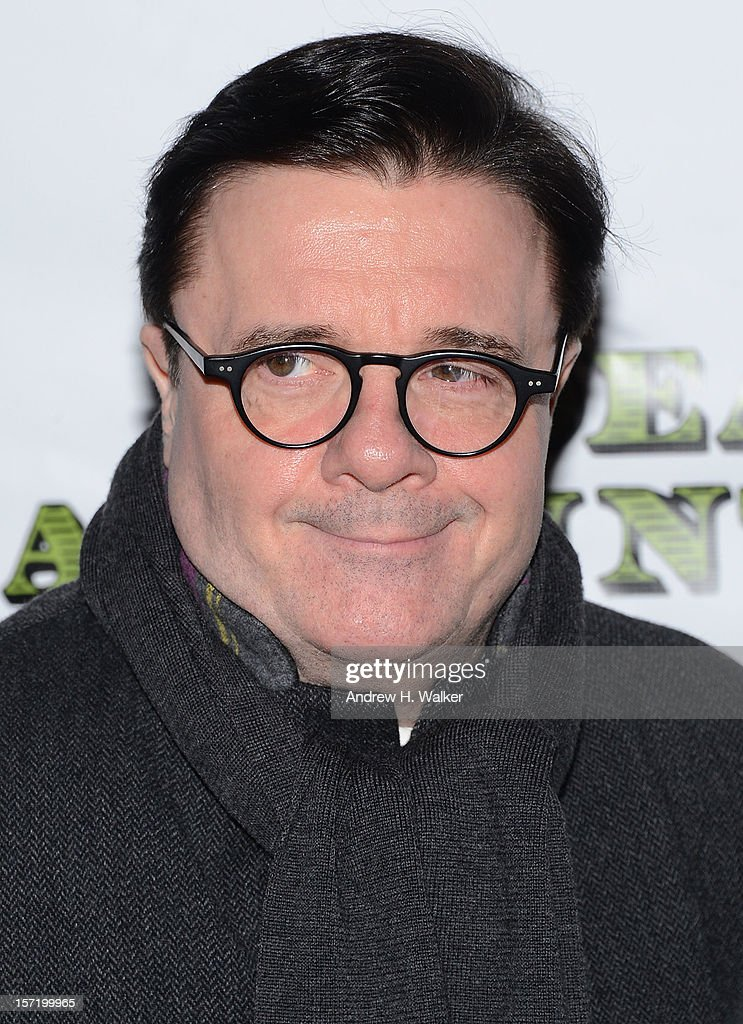 Actor <a gi-track='captionPersonalityLinkClicked' href=/galleries/search?phrase=Nathan+Lane&family=editorial&specificpeople=209367 ng-click='$event.stopPropagation()'>Nathan Lane</a> attends the 'Dead Accounts' Broadway opening night arrivals and curtain call at the Music Box Theatre on November 29, 2012 in New York City.