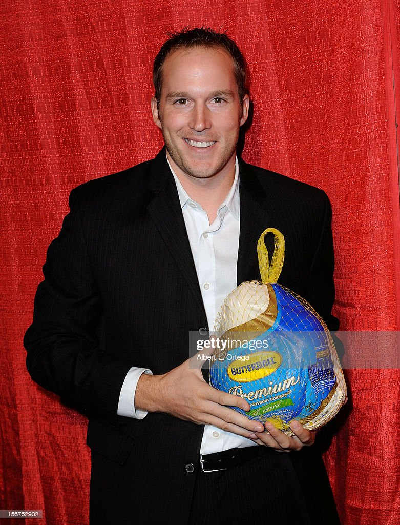 Actor Nathan Pulzin arrives for Jackson Limousine Homeless Turkey Drive Red Carpet Gala held at Infusion Lounge on November 19, 2012 in Universal City, California.