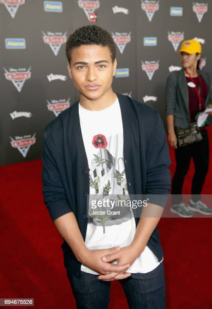 """Actor Nathaniel J Potvin poses at the World Premiere of Disney/Pixar's """"Cars 3' at the Anaheim Convention Center on June 10 2017 in Anaheim California"""