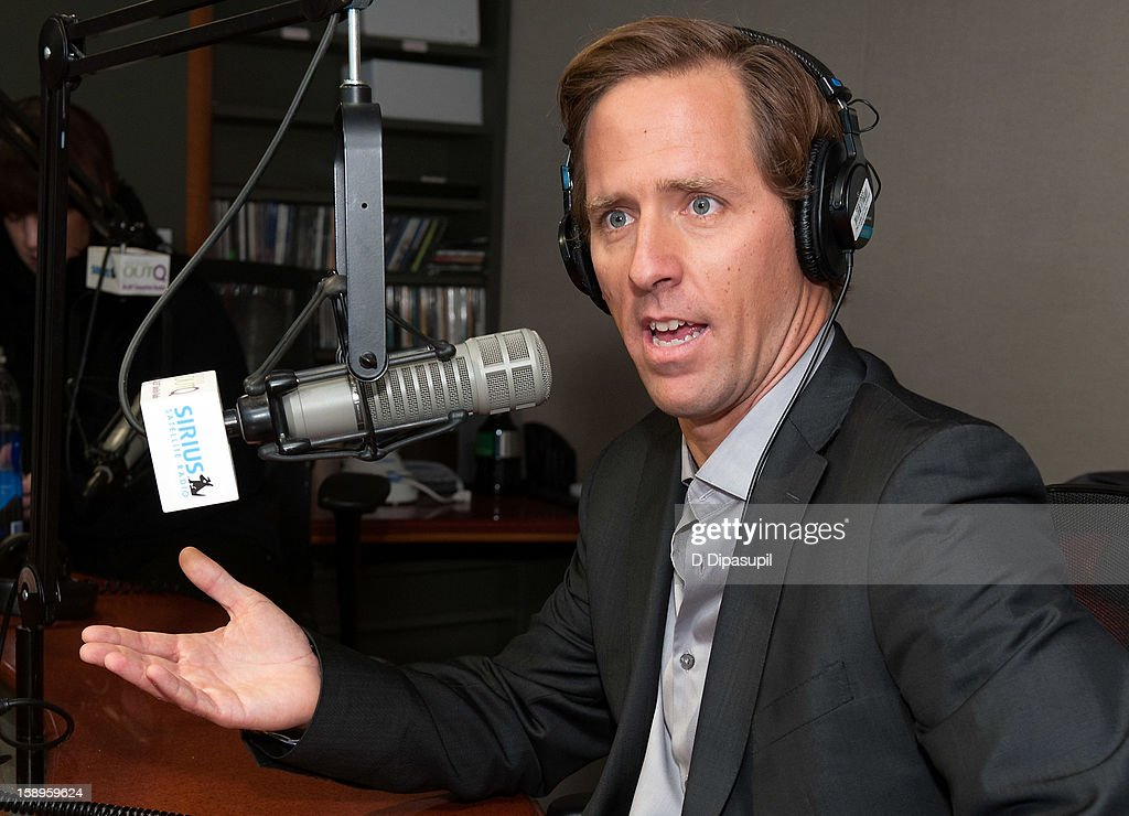 Actor Nathaniel 'Nat' Faxon visits 'The Frank DeCaro Show'on SiriusXM OutQ at the SiriusXM Studios on January 4, 2013 in New York City.