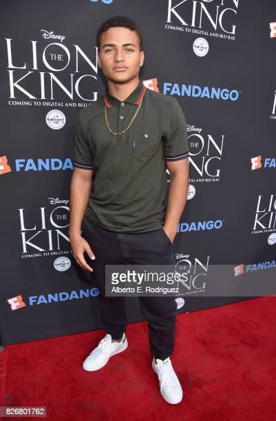 Actor Nathaniel Potvin at The Lion King SingAlong at The Greek Theatre in Los Angeles in celebration of the inhome release hosted by Walt Disney...