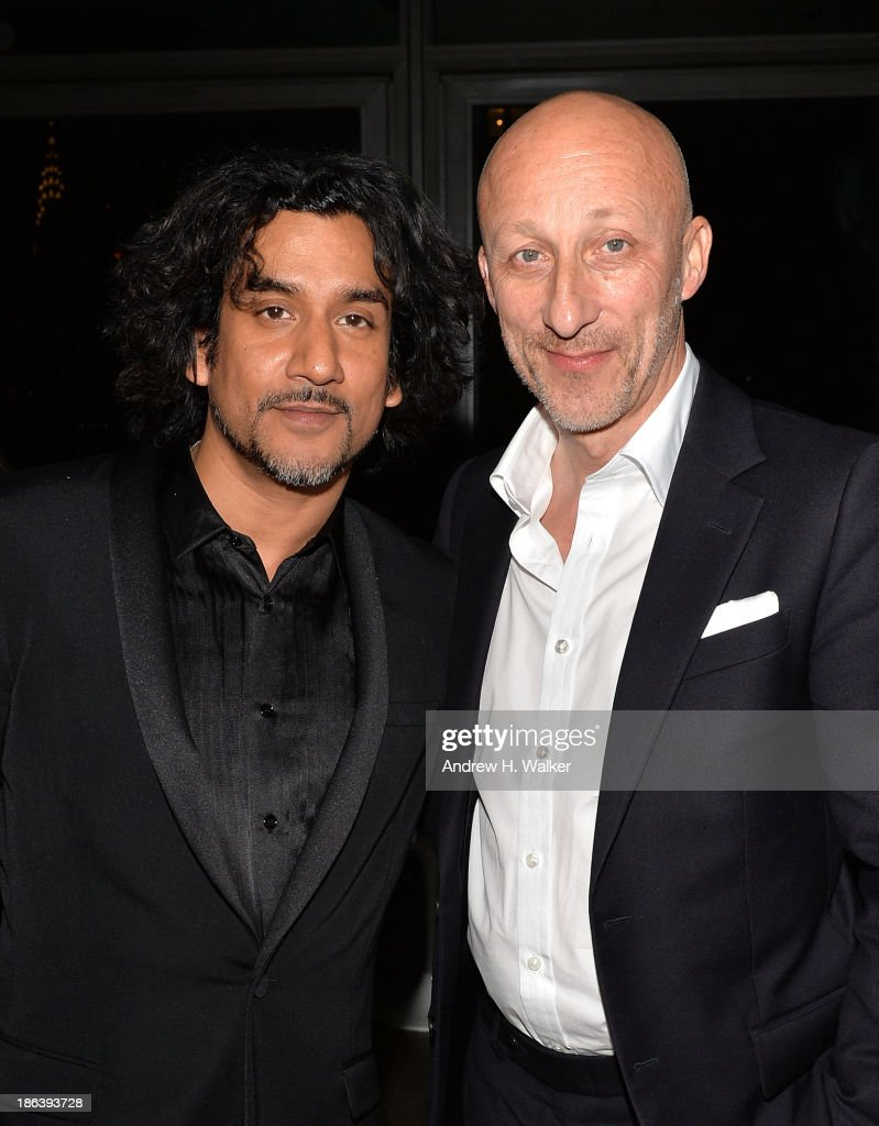 Actor <a gi-track='captionPersonalityLinkClicked' href=/galleries/search?phrase=Naveen+Andrews&family=editorial&specificpeople=693525 ng-click='$event.stopPropagation()'>Naveen Andrews</a> and director <a gi-track='captionPersonalityLinkClicked' href=/galleries/search?phrase=Oliver+Hirschbiegel&family=editorial&specificpeople=217874 ng-click='$event.stopPropagation()'>Oliver Hirschbiegel</a> attend the after party of Entertainment One's 'Diana' hosted by The Cinema Society with Linda Wells and Allure Magazine at The Skylark on October 30, 2013 in New York City.