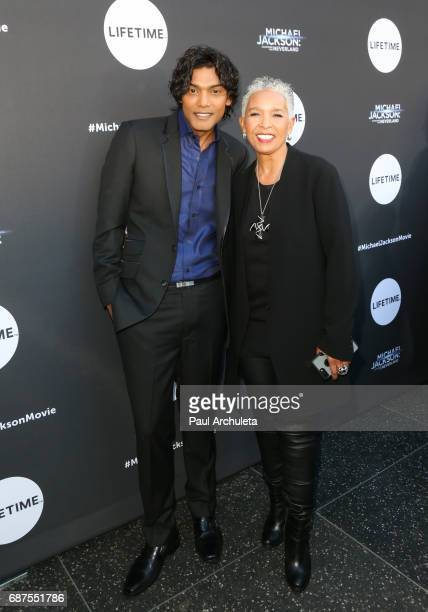 Actor Navi and Director Dianne Houston attend the fan gala and advance screening for 'Michael Jackson Searching For Neverland' at Avalon on May 23...