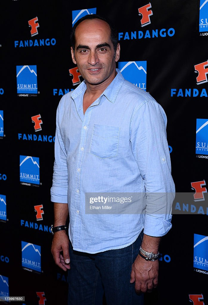 Actor Navid Negahban arrives at Summit Entertainment's press event for the movies 'Ender's Game' and 'Divergent' at the Hard Rock Hotel San Diego on July 18, 2013 in San Diego, California.