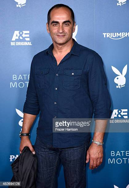 Actor Navid Negahban attends Playboy and AE 'Bates Motel' Event during ComicCon International 2014 on July 25 2014 in San Diego California