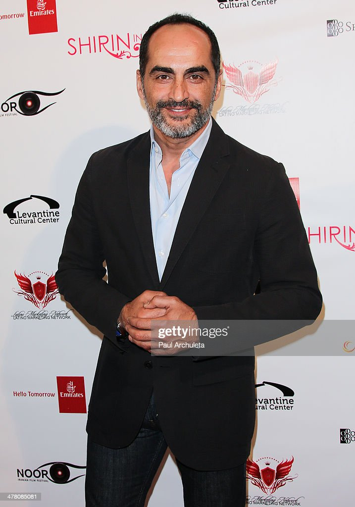 Actor <a gi-track='captionPersonalityLinkClicked' href=/galleries/search?phrase=Navid+Negahban&family=editorial&specificpeople=699830 ng-click='$event.stopPropagation()'>Navid Negahban</a> attends the premiere of 'Shirin In Love' at Avalon on March 11, 2014 in Hollywood, California.