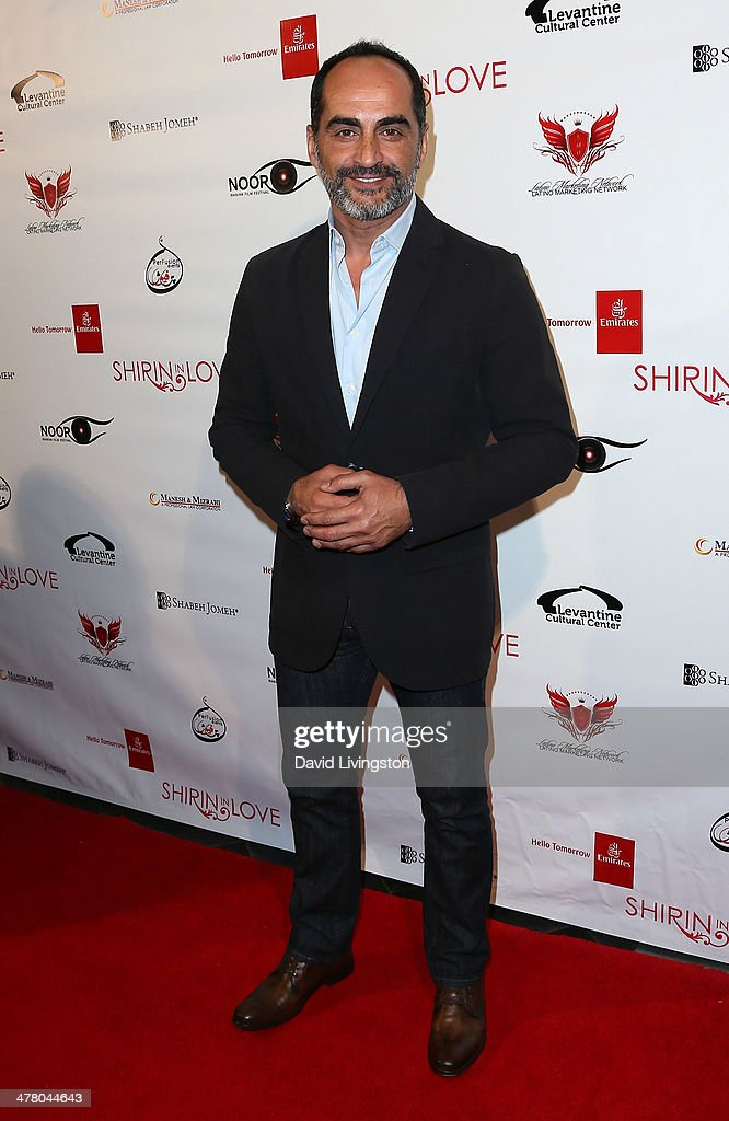 Actor <a gi-track='captionPersonalityLinkClicked' href=/galleries/search?phrase=Navid+Negahban&family=editorial&specificpeople=699830 ng-click='$event.stopPropagation()'>Navid Negahban</a> attends the premiere of Sideshow Releasing's 'Shirin In Love' at Avalon on March 11, 2014 in Hollywood, California.