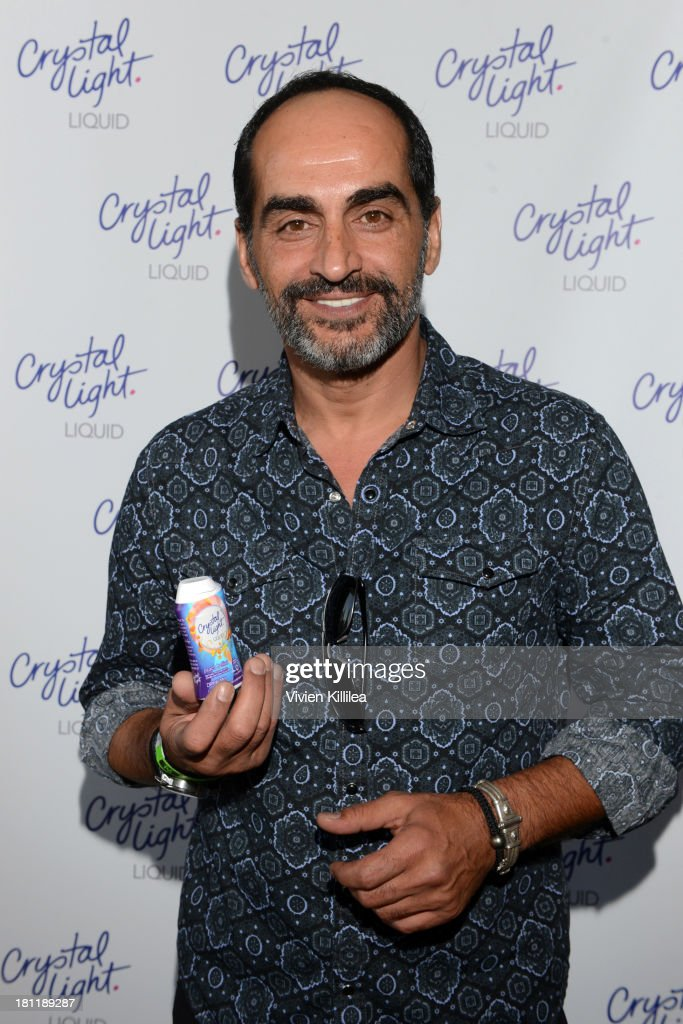 Actor Navid Negahban stops by Crystal Light Liquid as they toast the Emmys at Kari Feinstein's Pre-Emmy Style Lounge at the Andaz Hotel on September 19, 2013 in Los Angeles, California.