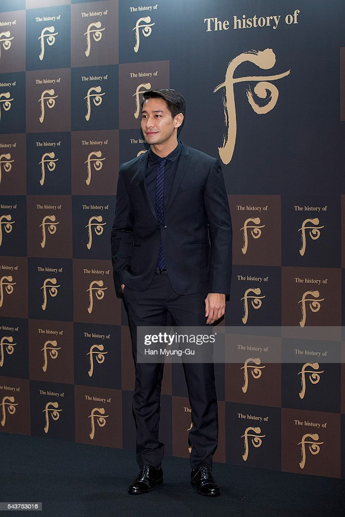 Actor Nawat Kulrattanarak from Thailand attends the photocall for the LG Household and Health Care 'The History Of Whoo' Launch Party at Four Seasons Hotel on June 30, 2016 in Seoul, South Korea.