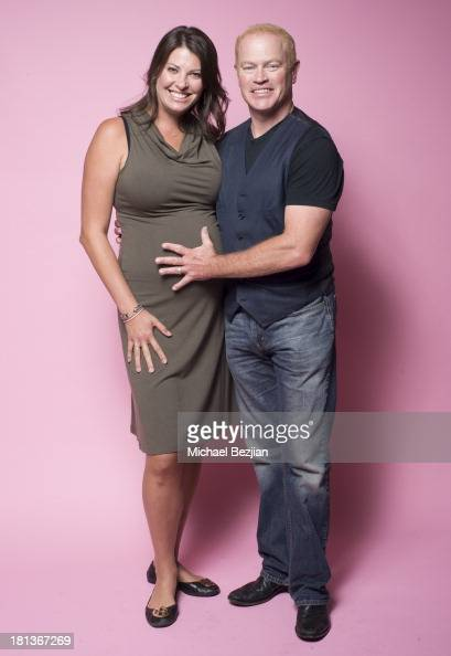 Actor Neal McDonough and wife Ruve pose for a portrait at the Mark Kearney Group 'Iced Out' Luxury Emmy Suite on September 20 2013 in Los Angeles...