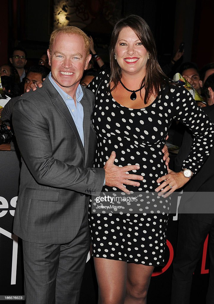 Actor <a gi-track='captionPersonalityLinkClicked' href=/galleries/search?phrase=Neal+McDonough&family=editorial&specificpeople=213199 ng-click='$event.stopPropagation()'>Neal McDonough</a> (L) and wife Ruve Robertson arrive at the Los Angeles premiere of 'Jackass Presents: Bad Grandpa' at TCL Chinese Theatre on October 23, 2013 in Hollywood, California.