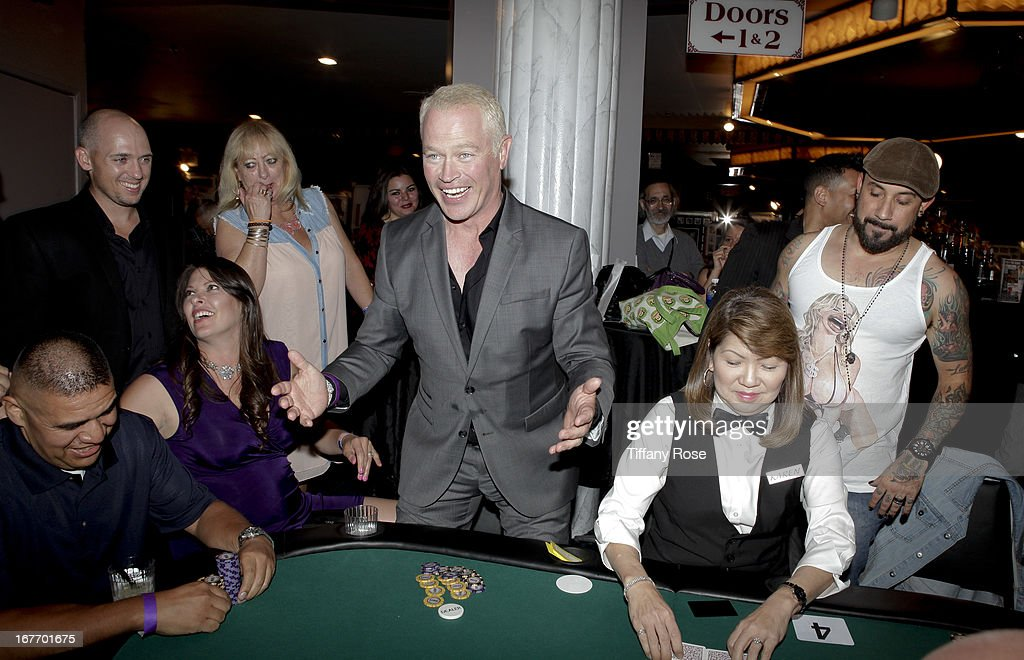 Actor <a gi-track='captionPersonalityLinkClicked' href=/galleries/search?phrase=Neal+McDonough&family=editorial&specificpeople=213199 ng-click='$event.stopPropagation()'>Neal McDonough</a> attends Los Angeles Police Memorial Foundation's Celebrity Poker Tournament at Saban Theatre on April 27, 2013 in Beverly Hills, California.