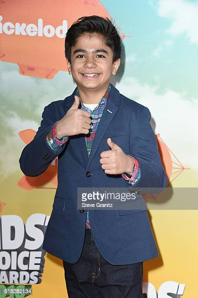 Actor Neel Sethi attends Nickelodeon's 2016 Kids' Choice Awards at The Forum on March 12 2016 in Inglewood California