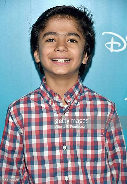 Actor Neel Sethi of FILM THE JUNGLE BOOK took part today in 'Worlds Galaxies and Universes Live Action at The Walt Disney Studios' presentation at...