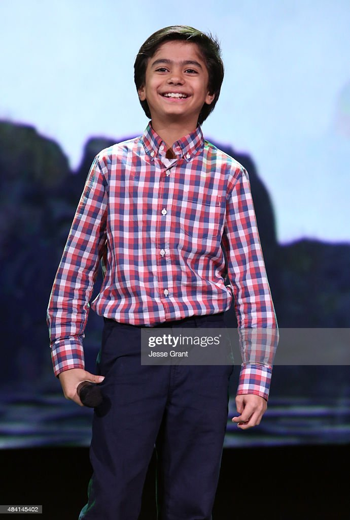 Actor Neel Sethi of THE JUNGLE BOOK took part today in 'Worlds, Galaxies, and Universes: Live Action at The Walt Disney Studios' presentation at Disney's D23 EXPO 2015 in Anaheim, Calif.