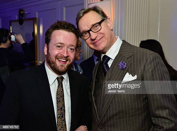Actor Neil Casey and executive producer Paul Feig attend Yahoo Screen Launch Party For Paul Feig's 'Other Space' at The London West Hollywood on...