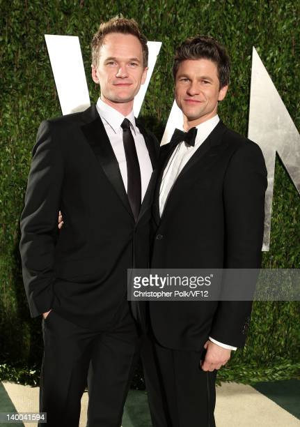 Actor Neil Patrick Harris and David Burtka attend the 2012 Vanity Fair Oscar Party Hosted By Graydon Carter at Sunset Tower on February 26 2012 in...