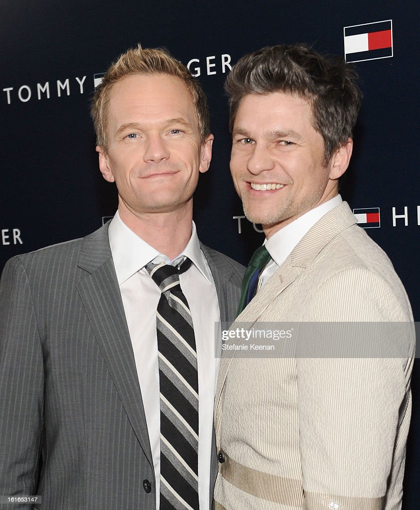 Actor Neil Patrick Harris (L) and David Burtka attend Tommy Hilfiger New West Coast Flagship Opening After Party at a Private Club on February 13, 2013 in West Hollywood, California.
