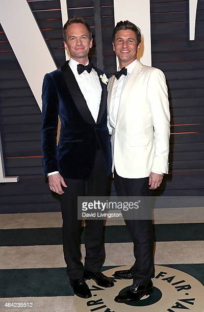 Actor Neil Patrick Harris and husband actor David Burtka attend the 2015 Vanity Fair Oscar Party hosted by Graydon Carter at the Wallis Annenberg...