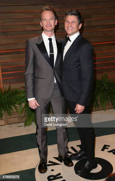 Actor Neil Patrick Harris and spouse actor David Burtka attend the 2014 Vanity Fair Oscar Party hosted by Graydon Carter on March 2 2014 in West...