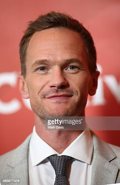 Actor Neil Patrick Harris arrives at the NBCUniversal 2015 Summer Press Tour at the Beverly Hilton on August 13 2015 in Beverly Hills California