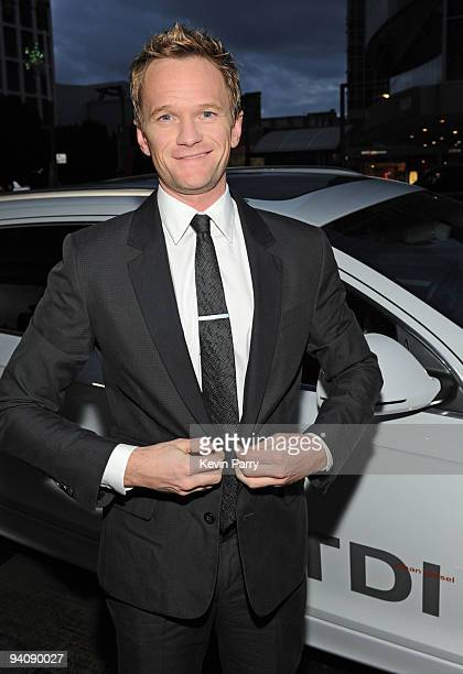 Actor Neil Patrick Harris arrives in an Audi TDI to The Trevor Project's 12th Annual Cracked Christmas at The Wiltern on December 6 2009 in Los...