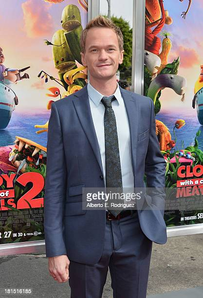 Actor Neil Patrick Harris arrives to the premiere of Columbia Pictures and Sony Pictures Animation's 'Cloudy With A Chance of Meatballs 2' at the...