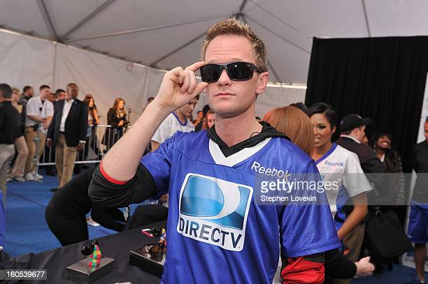 Actor Neil Patrick Harris attends GBK and DirecTV Celebrity Beach Bowl Thank You Lounge at DTV SuperFan Stadium at Mardi Gras World on February 2...