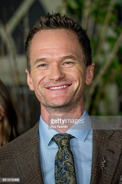Actor Neil Patrick Harris attends 'Lemony Snicket's A Series Of Unfortunate Events' New York Screening at AMC Lincoln Square Theater on January 11...
