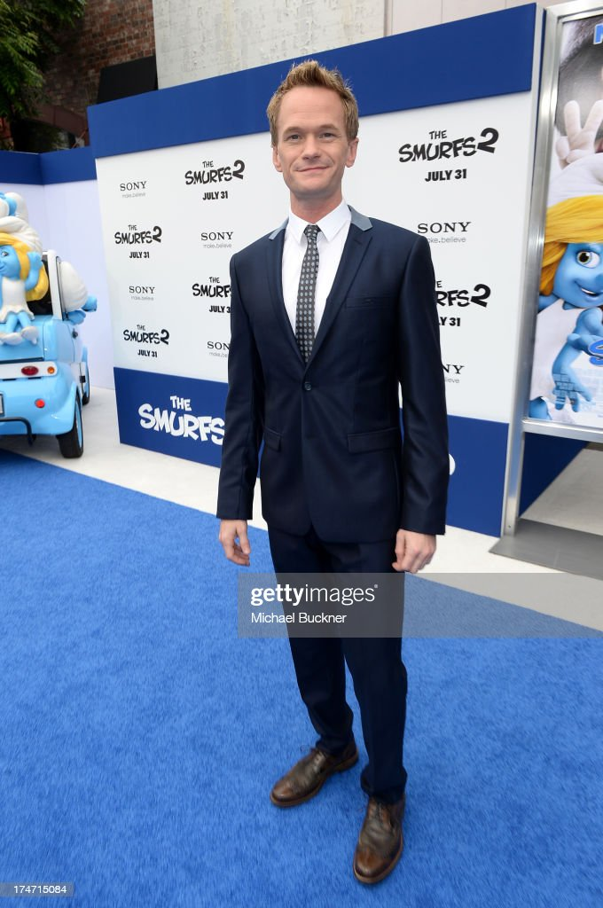 Actor <a gi-track='captionPersonalityLinkClicked' href=/galleries/search?phrase=Neil+Patrick+Harris&family=editorial&specificpeople=210509 ng-click='$event.stopPropagation()'>Neil Patrick Harris</a> attends the Los Angeles premiere of 'The Smurfs 2' at Regency Village Theatre on July 28, 2013 in Westwood, California.