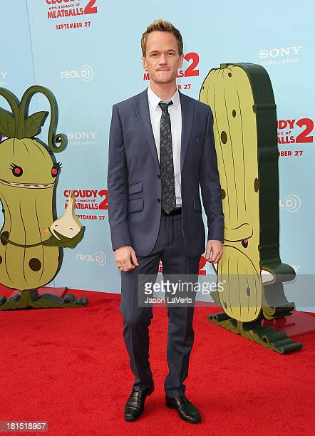Actor Neil Patrick Harris attends the premiere of 'Cloudy With a Chance of Meatballs 2' at Regency Village Theatre on September 21 2013 in Westwood...