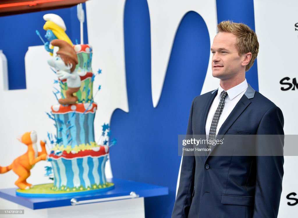 Actor <a gi-track='captionPersonalityLinkClicked' href=/galleries/search?phrase=Neil+Patrick+Harris&family=editorial&specificpeople=210509 ng-click='$event.stopPropagation()'>Neil Patrick Harris</a> attends the premiere of Columbia Pictures' 'Smurfs 2' at Regency Village Theatre on July 28, 2013 in Westwood, California.
