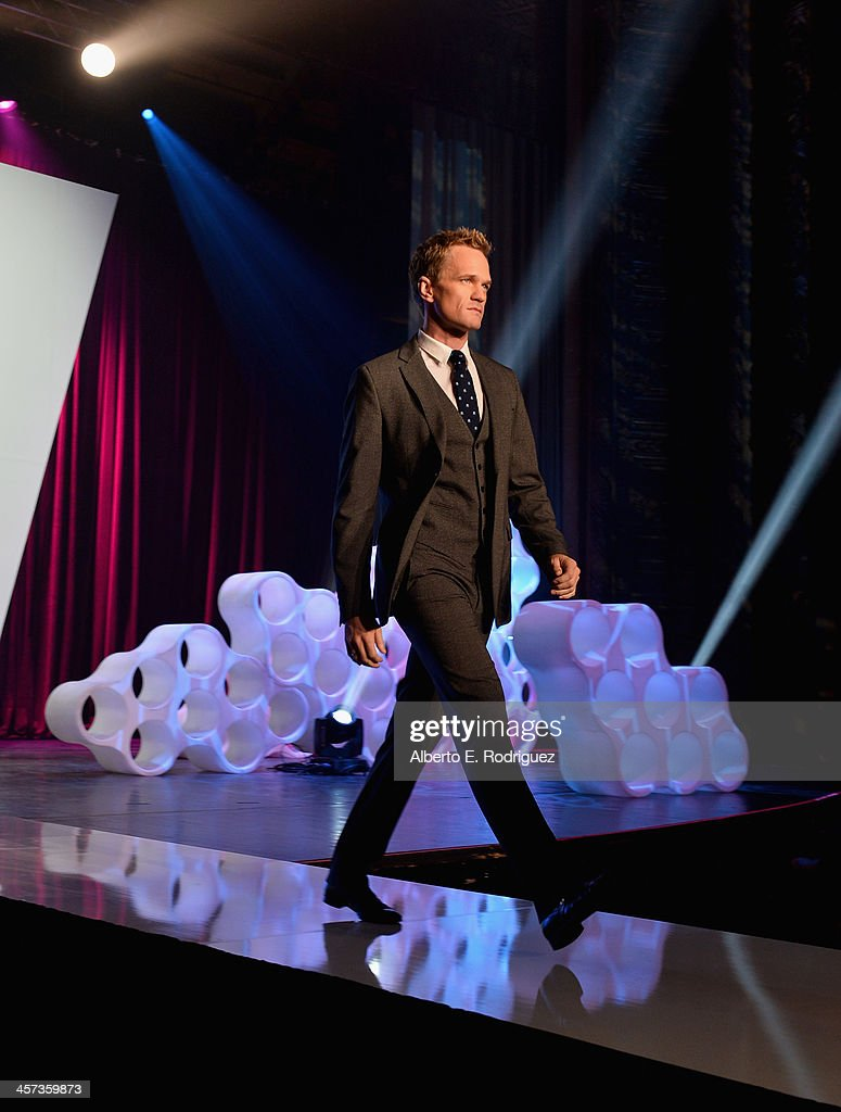 Actor <a gi-track='captionPersonalityLinkClicked' href=/galleries/search?phrase=Neil+Patrick+Harris&family=editorial&specificpeople=210509 ng-click='$event.stopPropagation()'>Neil Patrick Harris</a> attends the 'Under The Gunn' Finale Fashion Show at Los Angeles Theatre on December 16, 2013 in Los Angeles, California.