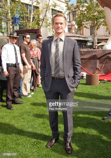 Actor Neil Patrick Harris hosts the unveiling of the sixth MM's Character Ms Brown at The Grove on January 30 2012 in Los Angeles California