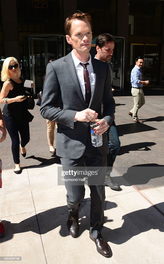 Actor <a gi-track='captionPersonalityLinkClicked' href=/galleries/search?phrase=Neil+Patrick+Harris&family=editorial&specificpeople=210509 ng-click='$event.stopPropagation()'>Neil Patrick Harris</a> is see outside 'Z100'on July 17, 2014 in New York City.
