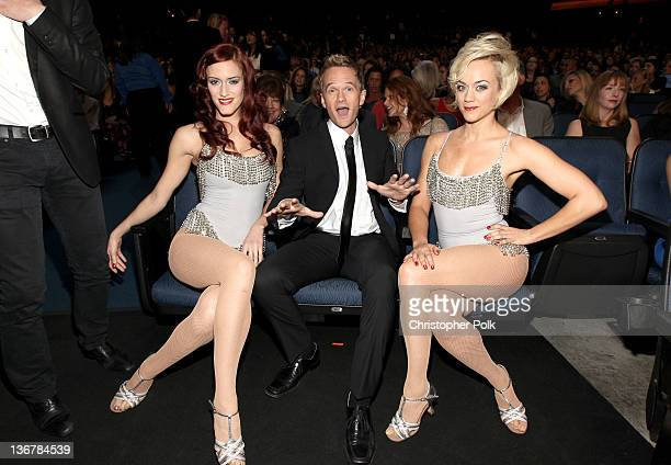 Actor Neil Patrick Harris poses in the audience during the 2012 People's Choice Awards at Nokia Theatre LA Live on January 11 2012 in Los Angeles...
