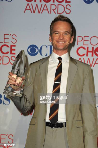 Actor Neil Patrick Harris poses in the press room during the People's Choice Awards 2012 at Nokia Theatre LA Live on January 11 2012 in Los Angeles...