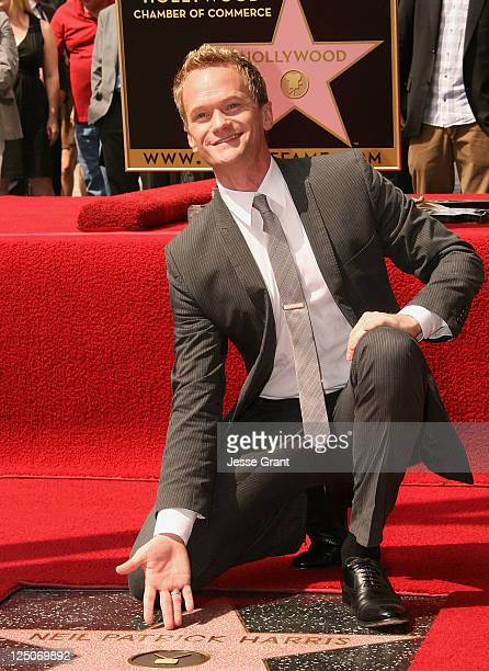 Actor Neil Patrick Harris receives a star on the Hollywood Walk of Fame on September 15 2011 in Hollywood California