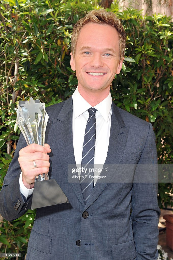 Actor Neil Patrick Harris winner of Best Supporting Actor in a Comedy Series poses with his award at the Critics' Choice Television Awards at Beverly...