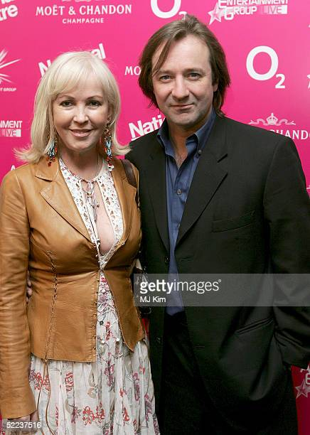 Actor Neil Pearson and Theatre producer Sally Greene attend the National Theatre Fast Forward reception at the Former Saatchi Gallery Building on...