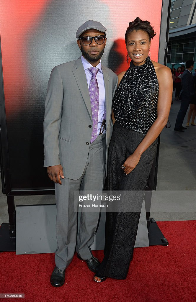 Actor Nelsan Ellis and Guest attend the premiere of HBO's 'True Blood' Season 6 at ArcLight Cinemas Cinerama Dome on June 11 2013 in Hollywood...