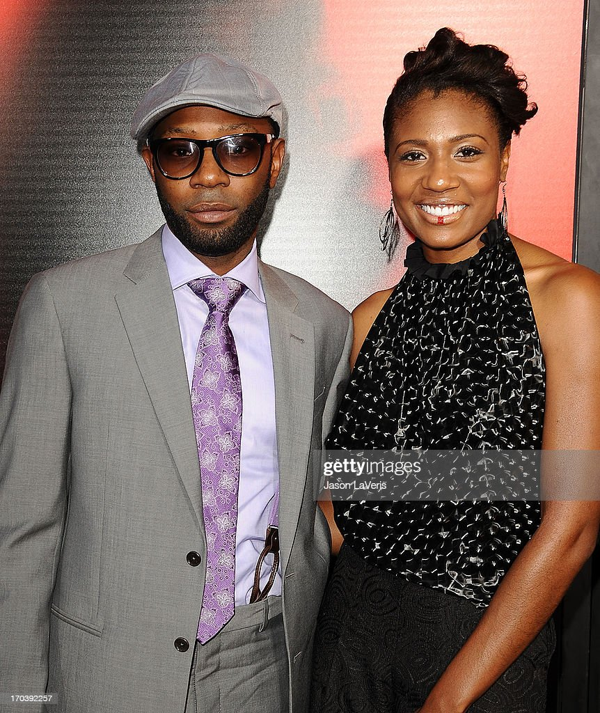 Actor Nelsan Ellis and guest attend the season 6 premiere of HBO's 'True Blood' at ArcLight Cinemas Cinerama Dome on June 11, 2013 in Hollywood, California.