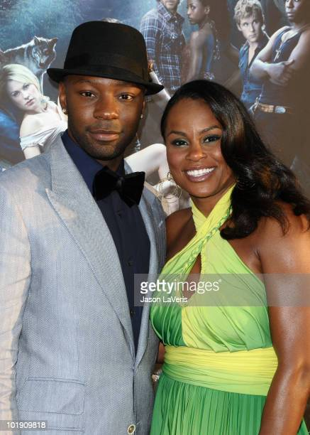Actor Nelsan Ellis and guest attend the third season premiere of HBO's 'True Blood' at ArcLight Cinemas Cinerama Dome on June 8 2010 in Hollywood...