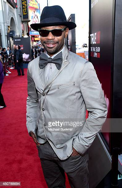 Actor Nelsan Ellis attends Premiere Of HBO's 'True Blood' Season 7 And Final Season at TCL Chinese Theatre on June 17 2014 in Hollywood California