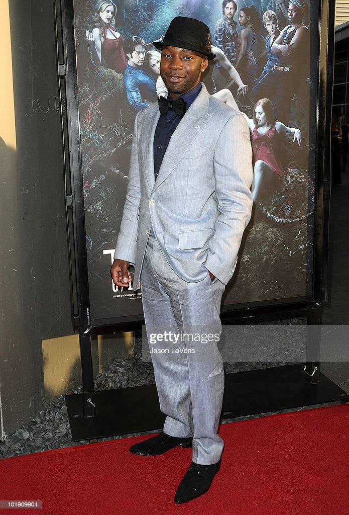 Actor Nelsan Ellis attends the third season premiere of HBO's 'True Blood' at ArcLight Cinemas Cinerama Dome on June 8, 2010 in Hollywood, California.