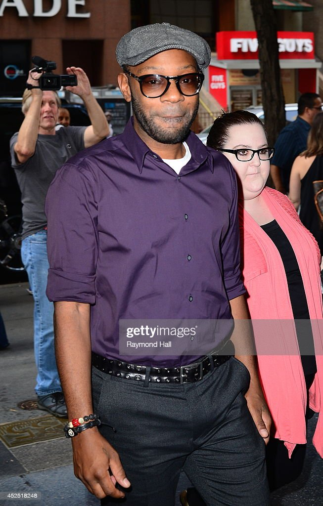 Actor Nelsan Ellis leaves the 'Today Show' taping at the NBC Rockefeller Center Studios on July 21 2014 in New York City