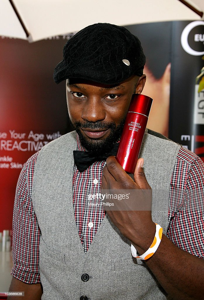 Actor Nelsan Ellis poses at Eudora International booth during Kari Feinstein Primetime Emmy Awards Style Lounge Day 2 held at Montage Beverly Hills hotel on August 26, 2010 in Beverly Hills, California.