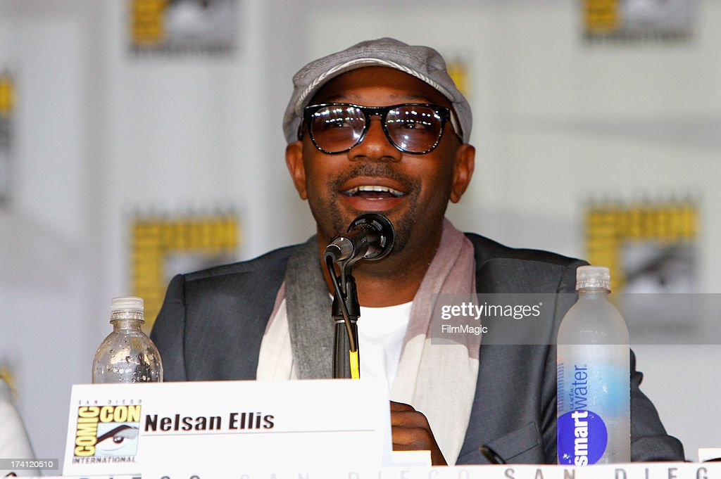 Actor Nelsan Ellis speaks at HBO's 'True Blood' Panel at San Diego Convention Center on July 20 2013 in San Diego California