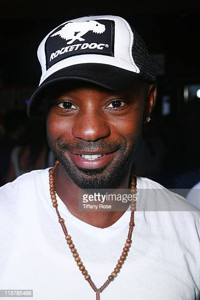 Actor Nelsan Ellis wears a Rocket Dog hat at Melanie Segal's Teen Choice Lounge Presented by Rocket Dog at The Magic Castle on August 6 2009 in...